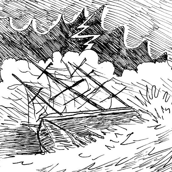 Myron 008- Shark in Storm
